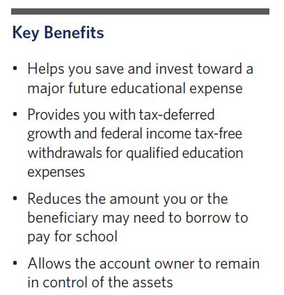 529 Key Benefits